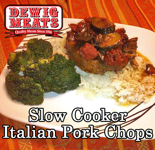 Slow Cooker Italian Pork Chops from Dewig Meats. Try this recipe for Slow Cooker Italian Pork Chops from Dewig Meats the next time you're looking for a fun twist on a traditional pork chop.