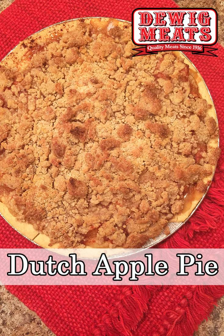 Dutch Apple Pie from Dewig Meats. Make a homemade apple pie fast! Our Dutch Apple Pie recipe uses Coloma Frozen Foods Spiced and Sliced Apples for an easy shortcut you can feel good about!