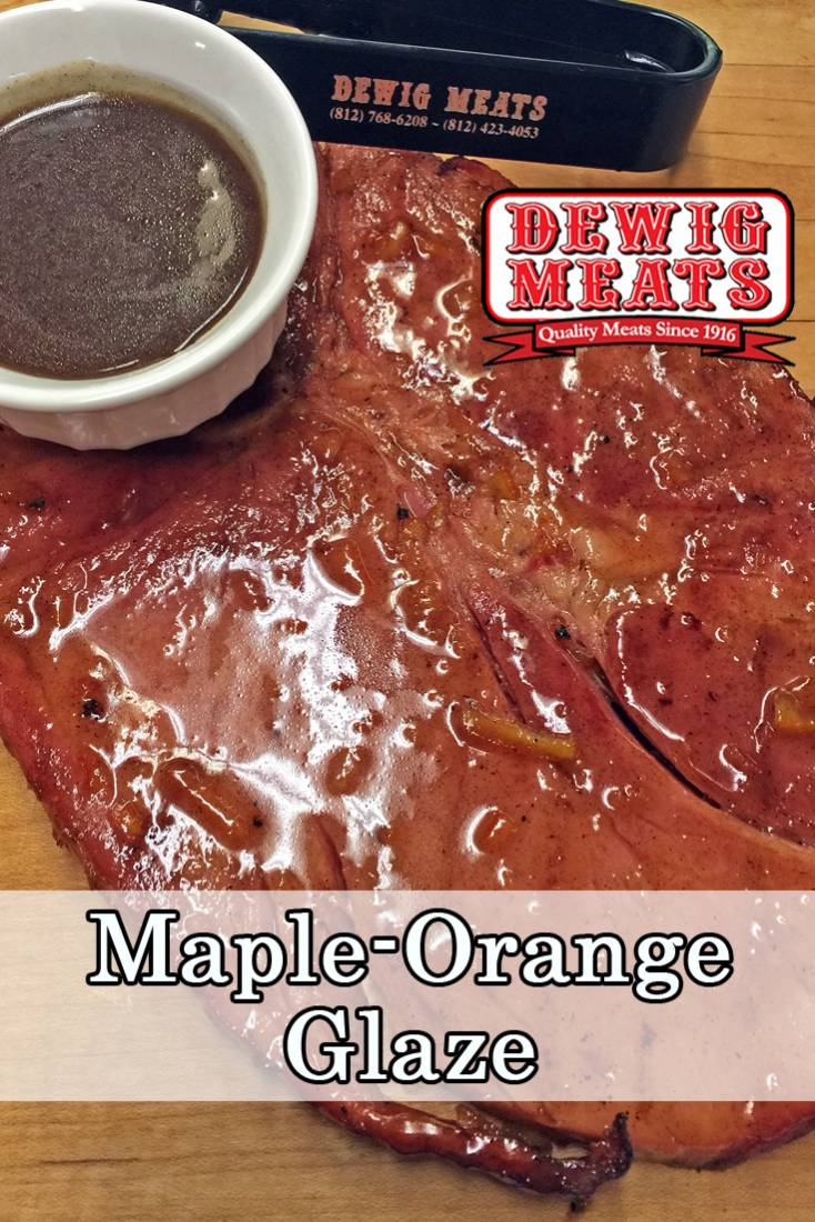 This Maple Orange Glaze will bring any pork dish to life. It's the perfect sauce to brush on pork chops or a ham steak on the grill!