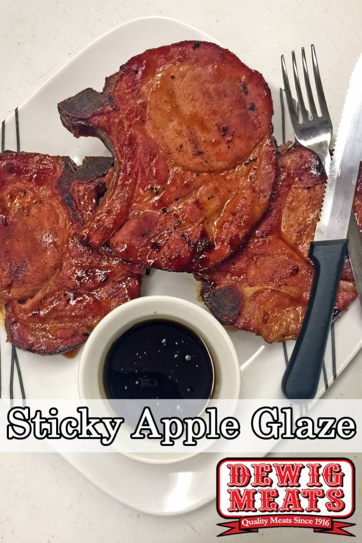 Looking for a different way to cook pork chops? This Sticky Apple Glaze is easy, fast, and delicious on any kind of pork!