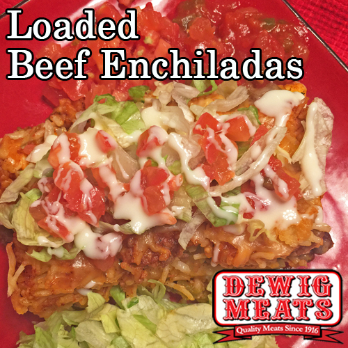 Do you want a new recipe for a Mexican dish? Your family will love these Loaded Beef Enchiladas! Use your favorite toppings to make it your own!