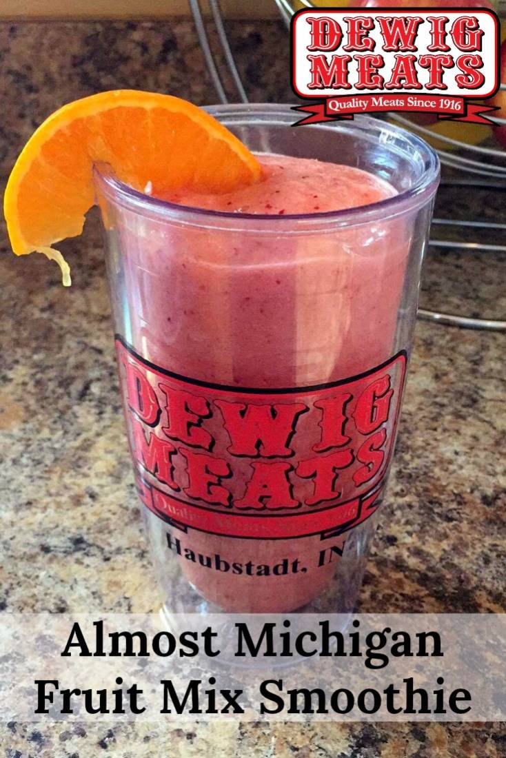 Almost Michigan Fruit Mix Smoothies from Dewig Meats. This recipe forAlmost Michigan Fruit Mix Smoothies is perfect for cooling off on a hot day. Indulge in a yummy drink that won't leave you feeling guilty.