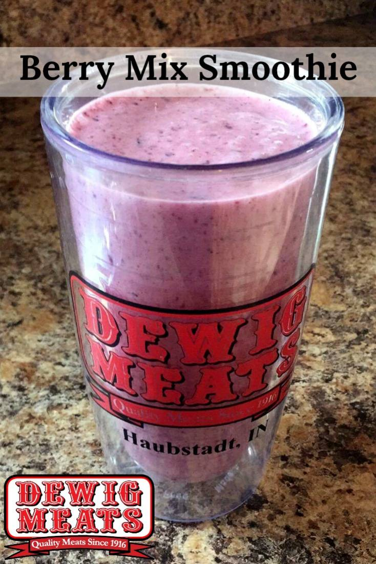 Berry Mix Smoothie from Dewig Meats. This recipe forBerry Mix Smoothie is as good for your body as it is for your taste buds! Try it for a light breakfast or a quick snack.