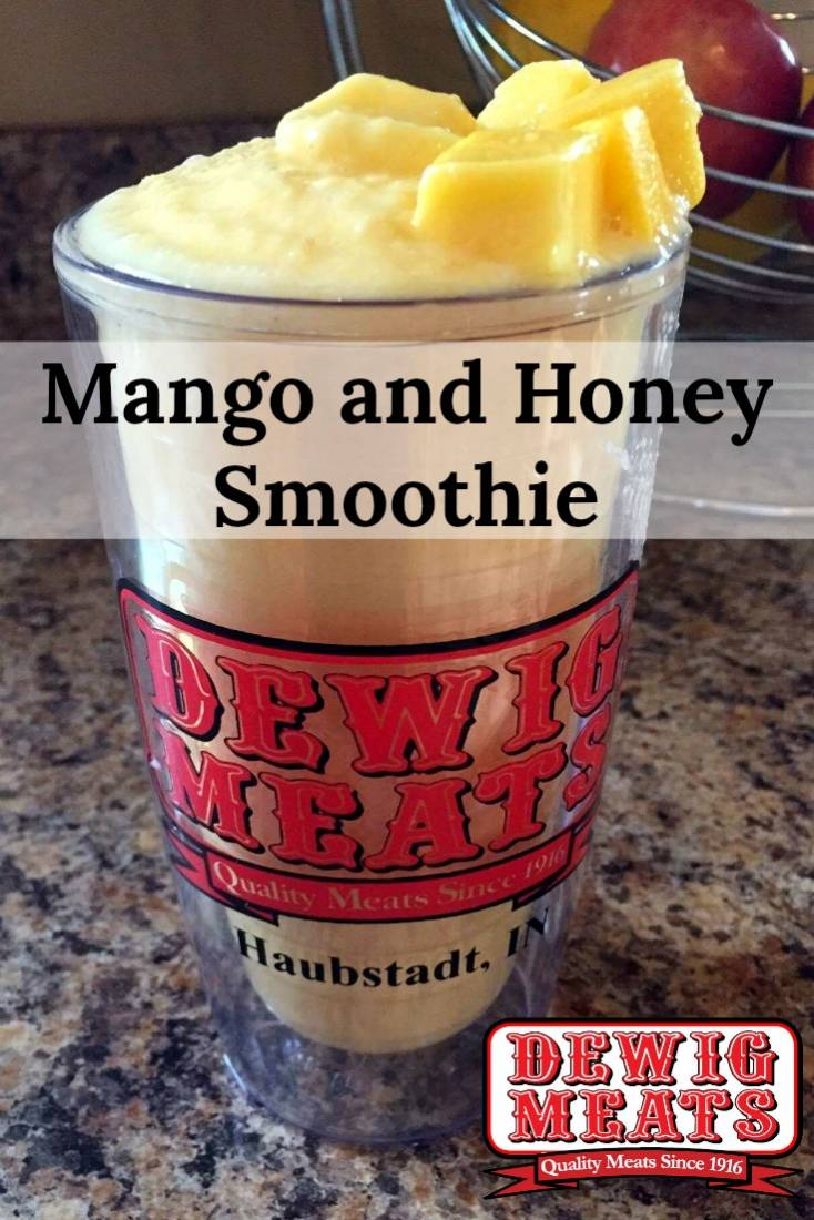 Mango and Honey Smoothie from Dewig Meats. This recipe for Mango and Honey Smoothies is ready in only 5 minutes and is full of sweet honey and mango flavors.It tastes great and is good for you!