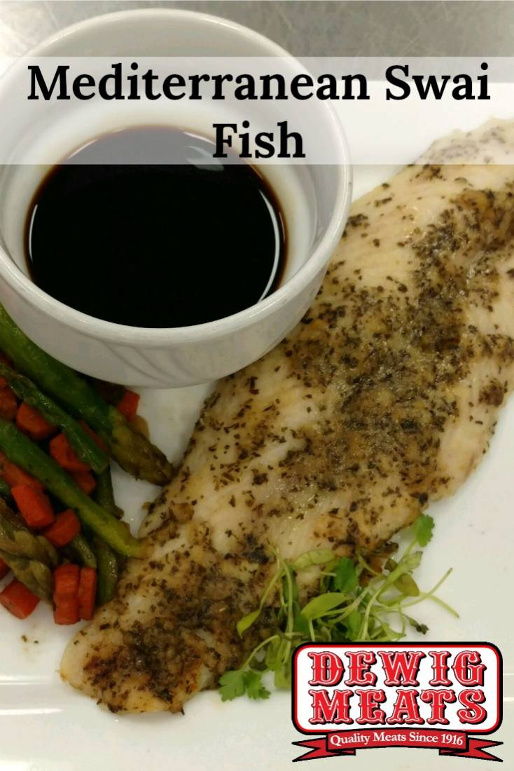 Mediterranean Swai Fish from Dewig Meats. Are you looking for a recipe for flaky, juicy fish that you don't have to slave over? Well then look no further than this recipe for Mediterranean Swai Fish