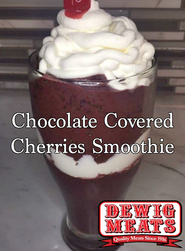 Chocolate Covered Cherries Smoothie from Dewig Meats. Prepared to be wowed by this Chocolate Covered Cherries Smoothie. This recipe is the perfect combination of sweet and tart and is oh so decadent.