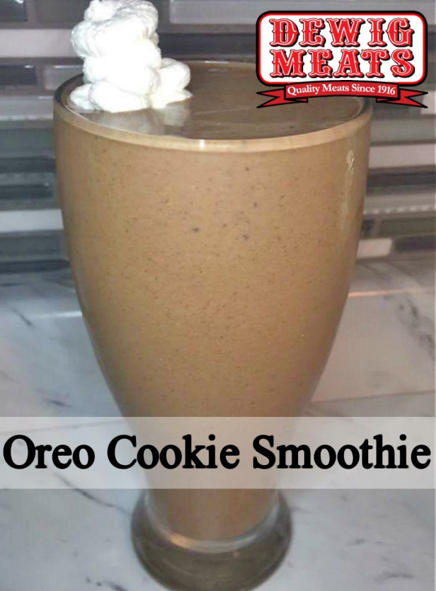 Oreo Cookie Smoothie from Dewig Meats. Who can resist Oreos? Especially Oreos for breakfast! This recipe for Oreo Cookie Smoothies is a healthy way to enjoy Oreos. What could be better than that?
