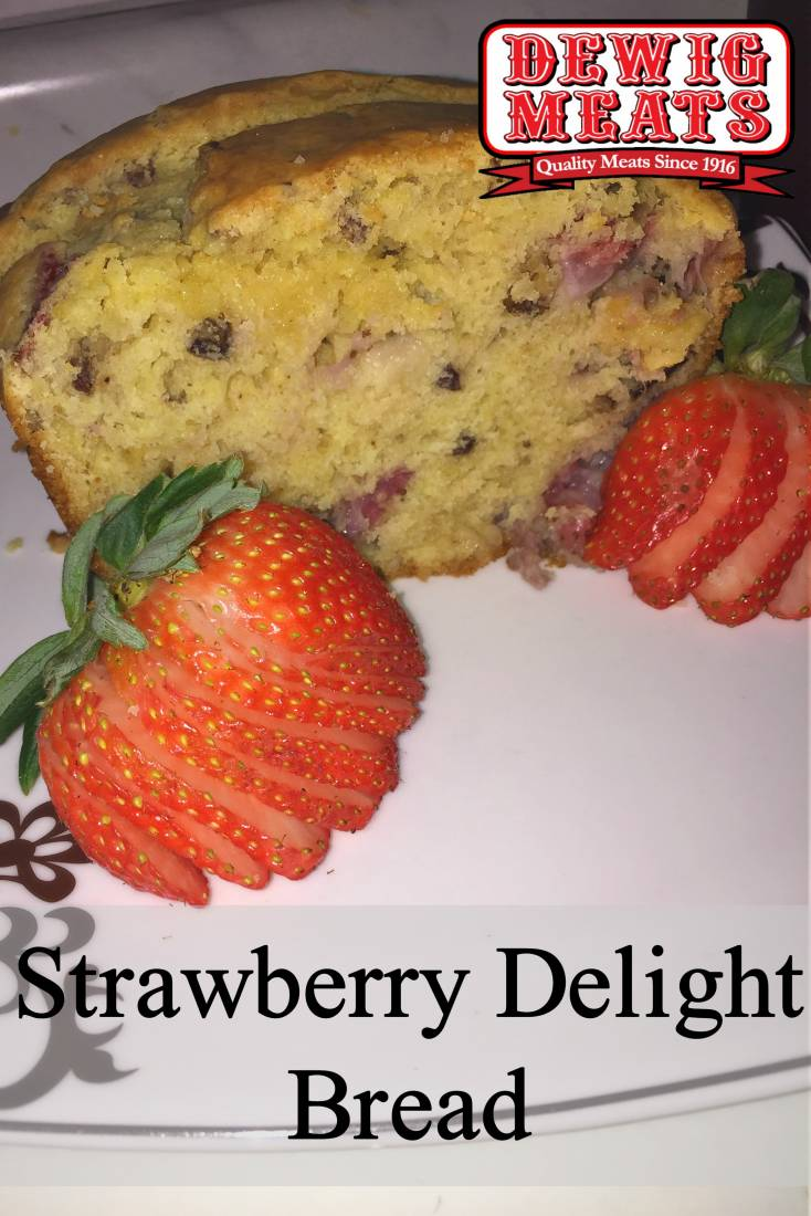 STRAWBERRY DELIGHT BREAD from Dewig Meats. This recipe for Strawberry Delight Bread is great for breakfast with a cup of coffee, or even for a tasty dessert. This super soft bread is full of sweet strawberry flavor. It tastes as delicious as it sounds!
