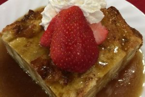 Breading Pudding with Strawberries 4